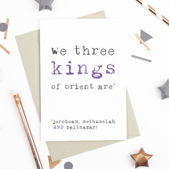 We Three Kings Champagne Christmas Card