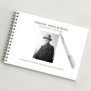 Personalised Condolence Book - albums & guest books