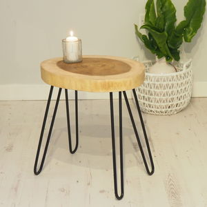 Industrial Coffee Table With Metal Legs - furniture