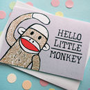 Little Monkey New Baby Card