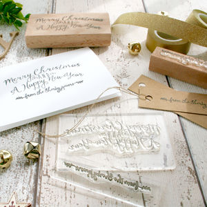 Christmas Stamp Set Personalise With Your Family Name - cards & wrap