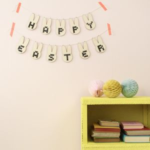 Cross Stitch Easter Bunny Garland Diy Kit - creative kits & experiences