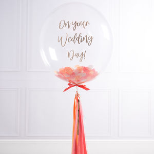 Personalised Bridal Tassel Balloon - outdoor decorations