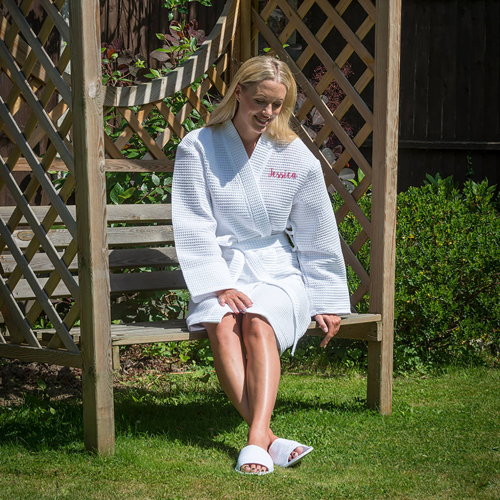 personalised waffle dressing gown by duncan stewart ...