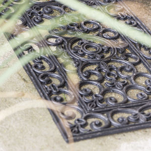 Rubber Filigree Outdoor Mat