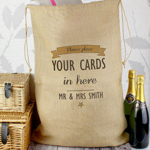 Personalised Wedding Parcel Sack - room decorations