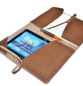 Document Case Leather Portfolio A4 Light