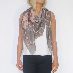 Scull Print Scarf - whats new