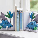 Personalised Wooden Dinosaur Bookends