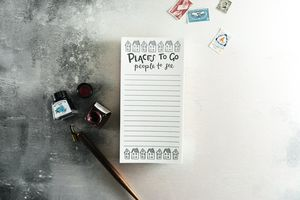 'Places To Go People To See' Letterpress List Pads - notepads & to do lists