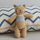 Hand Crochet Cheetah Baby Rattle