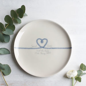 Personalised 'Tie The Knot' Wedding Plate - personalised wedding gifts