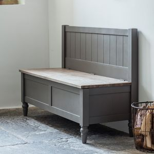 Dart Hall Bench Grey - furniture