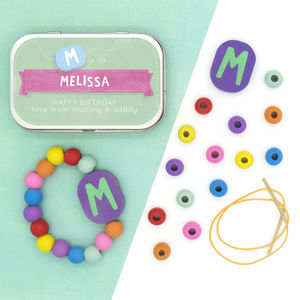 Personalised Letter Bracelet Gift Kit - children's parties