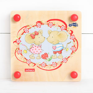 Wooden Childrens Flower Press - board games & puzzles
