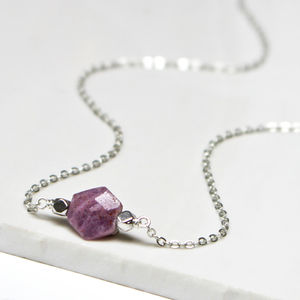 Ruby July Birthstone Jewellery Set