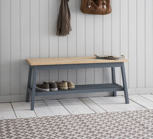 Clockhouse Hallway Bench In Charcoal - kitchen