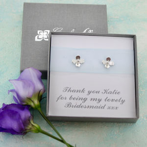 Bridesmaid Little Flower Earrings - wedding jewellery