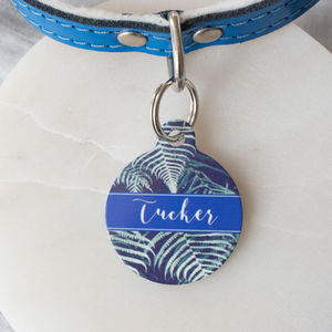 Tropical Leaf Pet ID Tag