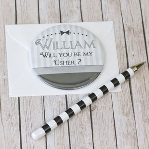 Personalised Best Man/Usher Invite Magnet