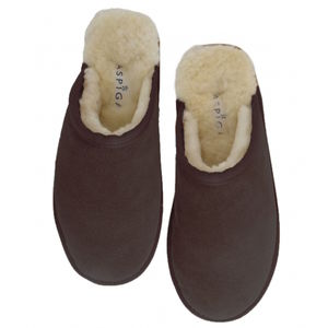Chocolate Brown Unisex Lou Sheepskin Slippers