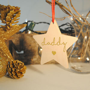 Personalised Christmas Decoration With Secret Message