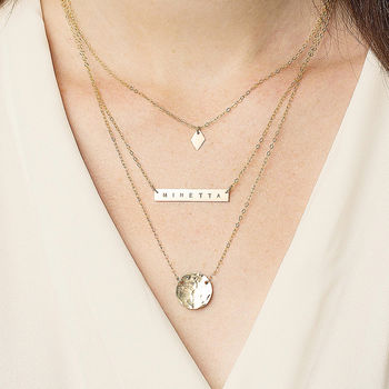 Personalised Layering Necklace Set