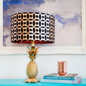 Copper Circle Pattern Drum Lampshade