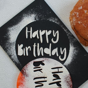 Happy Birthday Cake Stencil - kitchen accessories