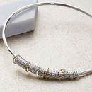 40th Birthday Bangle In 9ct Gold And Sterling Silver
