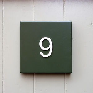 Steel House Number Plate - decorative accessories