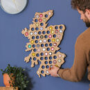 Personalised Scotland Beer Cap Collector Map Art
