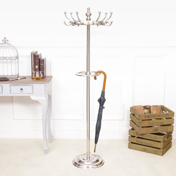 Classic Polished Chrome Coat Stand