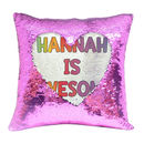 Personalised Sequin Mermaid Cushion Name Reveal Cover