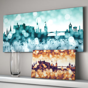 Edinburgh Cityscape Skyline Art Print - posters & prints