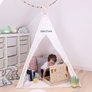 Personalised Large White Play Teepee