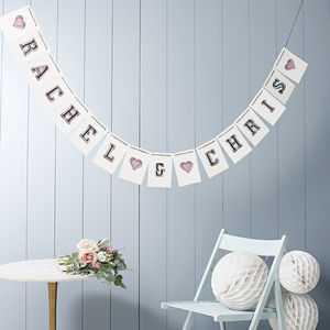Personalised Wedding Bunting - outdoor decorations
