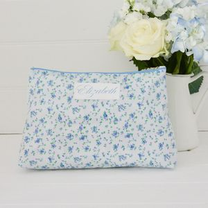 Floral Personalised Wash Bag