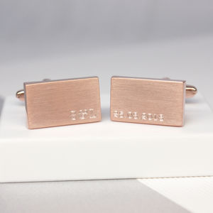 Personalised Initials And Date Cufflinks