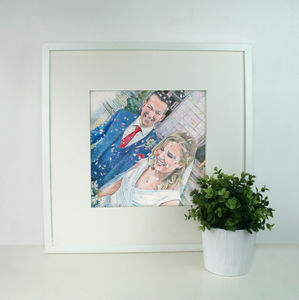 Personalised Wedding Portrait Drawing