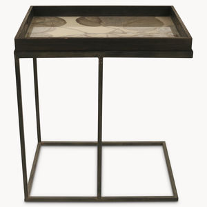 Brookby Antiqued Mirror Rectangular Side Table - bedside tables