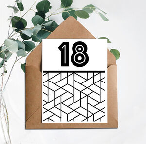 18 Printed Birthday Card