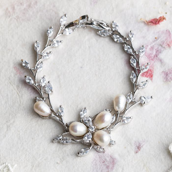 Tallulah Silver And Pearl Bracelet