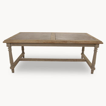 Woodcroft Dining Table With Stone Inlay