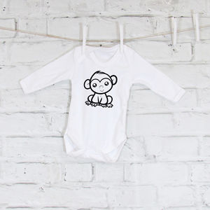 Cheeky Monkey Baby Grow