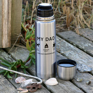 Personalised Iconic Man Flask - gifts for fathers