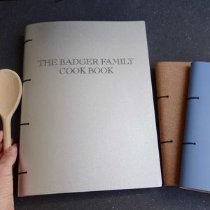 A4 Leather Family Cook Book - cookbooks & stands