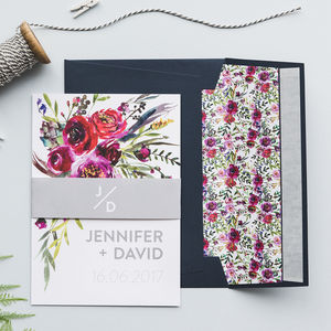 Floral Watercolour Wedding Invitations - save the date cards