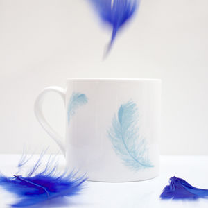 Bone China Feather Mug