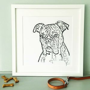 Contemporary Typed Boxer Dog Print - animals & wildlife